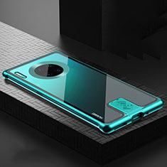 Luxury Aluminum Metal Frame Mirror Cover Case 360 Degrees T04 for Huawei Mate 30 Pro 5G Green