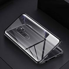 Luxury Aluminum Metal Frame Mirror Cover Case 360 Degrees T04 for Xiaomi Redmi Note 8 Pro Black