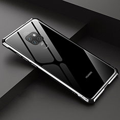 Luxury Aluminum Metal Frame Mirror Cover Case 360 Degrees T07 for Huawei Mate 20 Black