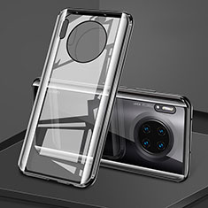 Luxury Aluminum Metal Frame Mirror Cover Case 360 Degrees T08 for Huawei Mate 30 Pro 5G Black