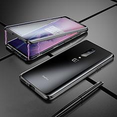 Luxury Aluminum Metal Frame Mirror Cover Case for OnePlus 7 Pro Black