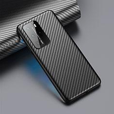 Luxury Carbon Fiber Twill Soft Case C01 for Huawei P40 Pro Black
