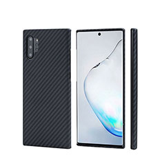 Luxury Carbon Fiber Twill Soft Case C01 for Samsung Galaxy Note 10 Plus 5G Black