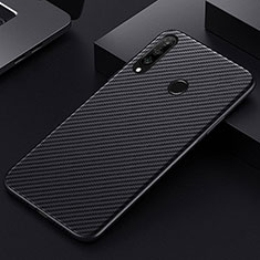 Luxury Carbon Fiber Twill Soft Case T01 for Huawei Honor 20 Lite Black