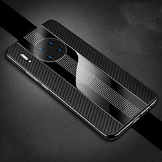 Luxury Carbon Fiber Twill Soft Case T01 for Huawei Mate 30 Pro 5G Black