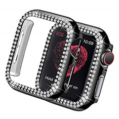 Luxury Diamond Bling Hard Case Cover for Apple iWatch 5 44mm Black