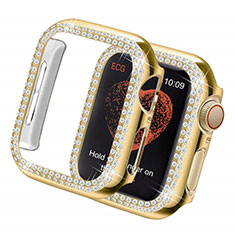 Luxury Diamond Bling Hard Case Cover for Apple iWatch 5 44mm Gold
