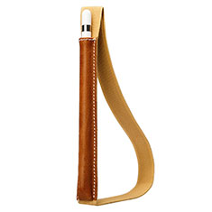 Luxury Leather Holder Elastic Detachable Cover P01 for Apple Pencil Apple iPad Pro 12.9 (2017) Brown