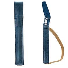 Luxury Leather Holder Elastic Detachable Cover P02 for Apple Pencil Apple iPad Pro 9.7 Blue