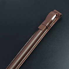 Luxury Leather Holder Elastic Detachable Cover P04 for Apple Pencil Apple iPad Pro 10.5 Brown