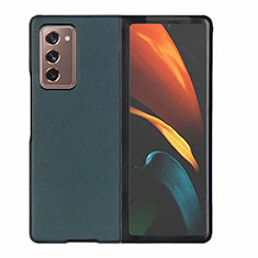 Luxury Leather Snap On Case Cover S03 for Samsung Galaxy Z Fold2 5G Green