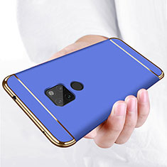 Luxury Metal Frame and Plastic Back Case for Huawei Mate 20 Blue