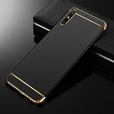 Luxury Metal Frame and Plastic Back Cover Case M01 for Huawei Enjoy 10e Black