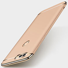 Luxury Metal Frame and Plastic Back Cover Case M01 for Huawei Enjoy 7S Gold