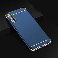 Luxury Metal Frame and Plastic Back Cover Case M01 for Huawei Honor 9X Blue
