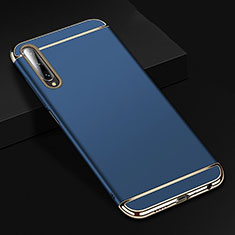 Luxury Metal Frame and Plastic Back Cover Case M01 for Huawei Honor 9X Pro Blue