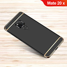 Luxury Metal Frame and Plastic Back Cover Case M01 for Huawei Mate 20 X Black