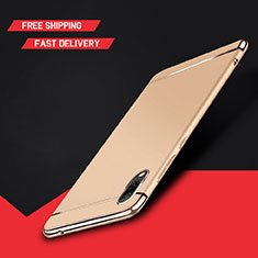 Luxury Metal Frame and Plastic Back Cover Case M01 for Huawei Y7 Pro (2019) Gold