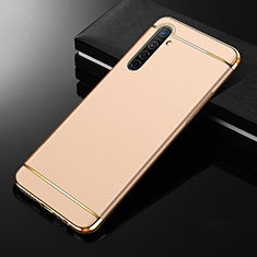 Luxury Metal Frame and Plastic Back Cover Case M01 for Realme X2 Gold