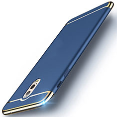 Luxury Metal Frame and Plastic Back Cover Case M01 for Samsung Galaxy J7 Plus Blue