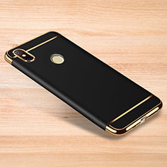 Luxury Metal Frame and Plastic Back Cover Case M01 for Xiaomi Redmi Note 6 Pro Black