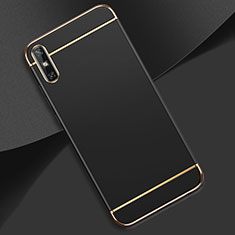 Luxury Metal Frame and Plastic Back Cover Case M02 for Huawei Enjoy 10e Black