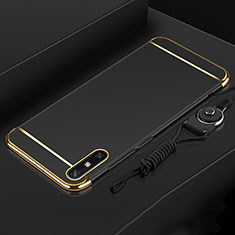 Luxury Metal Frame and Plastic Back Cover Case M03 for Huawei Enjoy 10e Black
