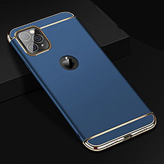 Luxury Metal Frame and Plastic Back Cover Case T01 for Apple iPhone 11 Pro Max Blue
