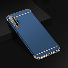 Luxury Metal Frame and Plastic Back Cover Case T01 for Huawei Honor 20 Pro Blue