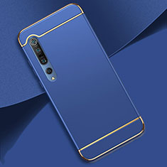 Luxury Metal Frame and Plastic Back Cover Case T01 for Xiaomi Mi 10 Pro Blue