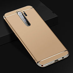 Luxury Metal Frame and Plastic Back Cover Case T01 for Xiaomi Redmi Note 8 Pro Gold