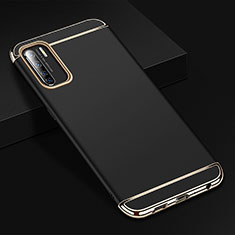 Luxury Metal Frame and Plastic Back Cover Case T02 for Oppo Find X2 Lite Black