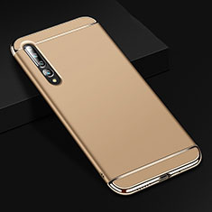 Luxury Metal Frame and Plastic Back Cover Case T02 for Xiaomi Mi 10 Pro Gold