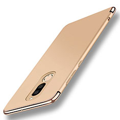 Luxury Metal Frame and Plastic Back Cover with Finger Ring Stand A01 for Huawei G10 Gold