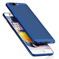 Mesh Hole Hard Rigid Case Back Cover for OnePlus 5 Blue