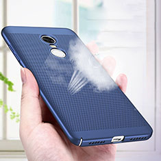 Mesh Hole Hard Rigid Case Back Cover R01 for Xiaomi Redmi Note 4X High Edition Blue