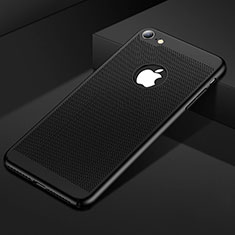Mesh Hole Hard Rigid Snap On Case Cover for Apple iPhone SE (2020) Black