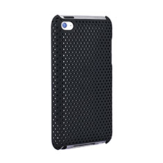 Mesh Hole Hard Rigid Snap On Case Cover for Apple iPod Touch 4 Black