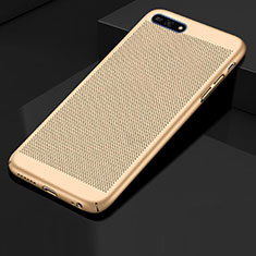 Mesh Hole Hard Rigid Snap On Case Cover for Huawei Enjoy 8e Gold