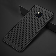 Mesh Hole Hard Rigid Snap On Case Cover for Huawei Mate 20 Pro Black