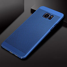 Mesh Hole Hard Rigid Snap On Case Cover for Samsung Galaxy S7 Edge G935F Blue