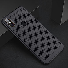 Mesh Hole Hard Rigid Snap On Case Cover for Xiaomi Redmi 6 Pro Black
