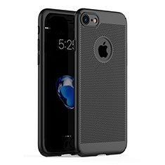 Mesh Hole Hard Rigid Snap On Case Cover M01 for Apple iPhone SE (2020) Black