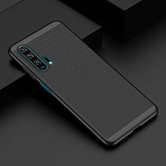 Mesh Hole Hard Rigid Snap On Case Cover W01 for Huawei Honor 20 Pro Black
