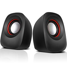Mini Speaker Wired Portable Stereo Super Bass Loudspeaker W01 Black