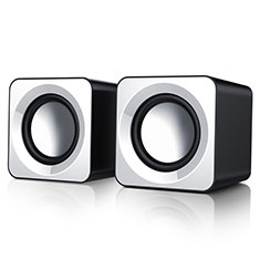 Mini Speaker Wired Portable Stereo Super Bass Loudspeaker W04 White