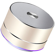Mini Wireless Bluetooth Speaker Portable Stereo Super Bass Loudspeaker K01 for Apple iPhone 11 Pro Gold