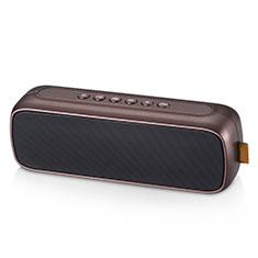 Mini Wireless Bluetooth Speaker Portable Stereo Super Bass Loudspeaker S09 for Amazon Kindle Paperwhite 6 inch Brown