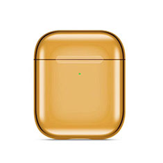 Protective Silicone Case Skin for Apple Airpods Charging Box with Keychain C07 for Apple AirPods Gold