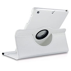 Rotating Stands Flip Leather Case for Apple iPad Mini 3 White